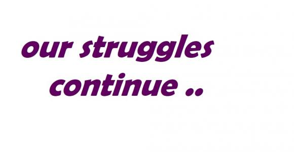 """Launching """"Our Struggles Continue"""" Campaign"""